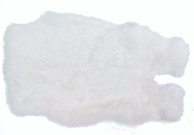 Kaninchenfelle weiß naturfarben, ca. 30x30 cm, Felle vom Kaninchen mit seidigem Haar