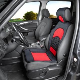trendige Universal Auto Sitzauflage Space schwarz rot mit Nackenstütze, 30 Grad waschbar, für alle PKW - Vorschau 2