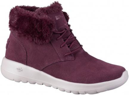 SKECHERS On The Go Joy Lush Damen Leder Boots burg, Skechers Air Cooled Goga ...