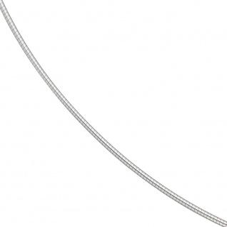 Halsreif 585 Weißgold 1, 2 mm 42 cm Gold Kette Halskette Weißgoldhalsreif