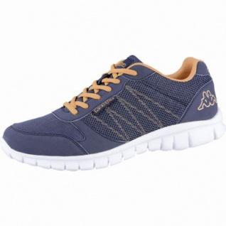 Kappa Stay modische Damen, Herren Mesh Synthetik Sneakers navy orange, Kappa Fußbett, 4239111