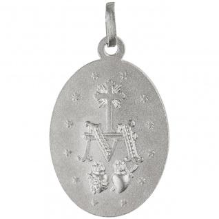 Anhänger Milagrosa 925 Sterling Silber teil matt Silberanhänger