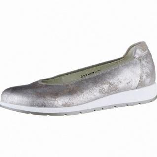 Waldläufer Hara 15 Damen Metallic Leder Ballerinas rose, herausnehmbares Leder Fußbett, Extra Weite H, 1140115/7.0