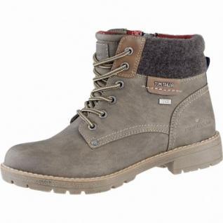 TOM TAILOR sportliche Damen Synthetik Winter Boots taupe, Warmfutter, Tex Ausstattung, 1639281/36