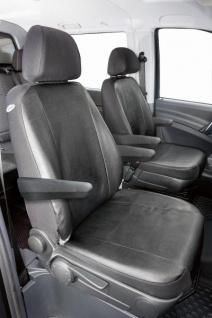 Passform Sitzbezüge Mercedes Vito W639, passgenauer Kunstleder Sitzbezug 2 Einzelsitze+Armlehne, ab Bj. 06/2003-05/2014