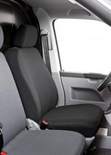 Universal Polyester Transporter Sitzbezug anthrazit waschbar, auch für Seitenairbags, 1 Vordersitzbezug+Kopfstütze