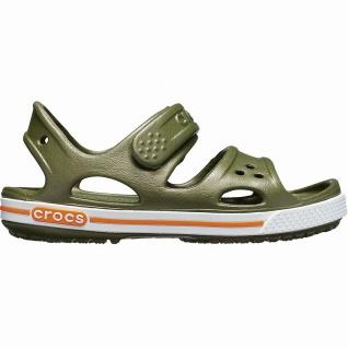 Crocs Crocband II Sandal coole Jungen Sandalen mit Klettverschluss army green...