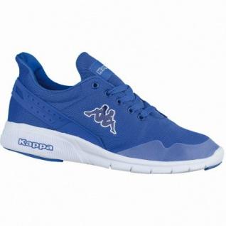 Kappa New York coole Damen, Herren Mesh Synthetik Sneakers blue white, Sneaker Laufsohle, 4238206/40