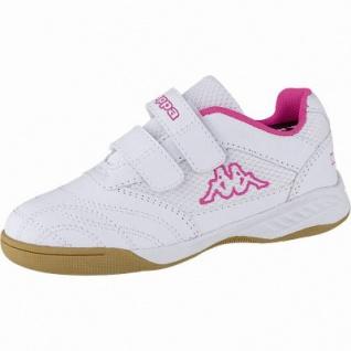 Kappa Kickoff K Mädchen Synthetik Sportschuhe white, auch als Hallen Schuh, Meshfutter, herausnehmbares Fußbett, 3741134/33