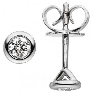 Ohrstecker 585 Gold Weißgold 2 Diamanten Brillanten Ohrringe Diamantohrstecker