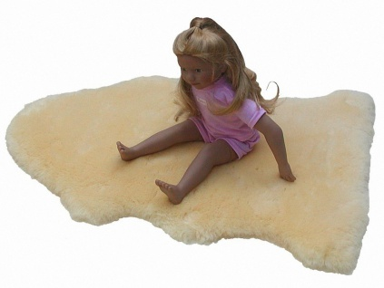 weiches Babylammfell medizinisch gegerbt, geschoren, waschbar, ca. 70-80 cm lang
