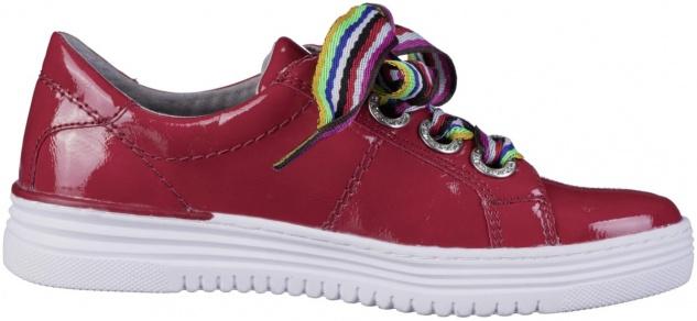 JANA Damen Lack Sneaker red, Extra Weite H, Jana Comfort Fußbett, Soft Flex S...