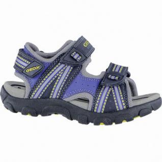 Geox coole Jungen Synthetik Sandalen navy, weiches Geox Leder Fußbett, Antishock, 3540126