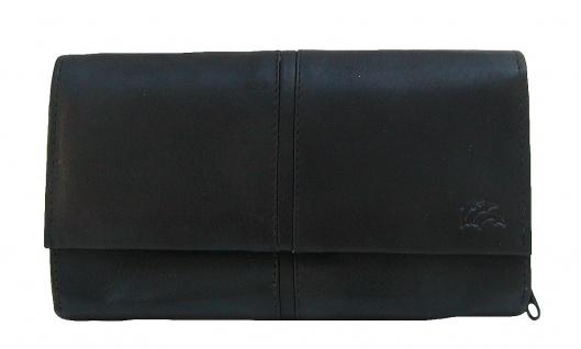 Dolphin exklusive große Damen Leder Börse schwarz, 9xCC, 3 Scheinfächer, RV-M...