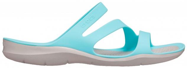 CROCS TM SHOES Swiftwater Sandal W Damen Pantoletten blue, flexible Riemchen