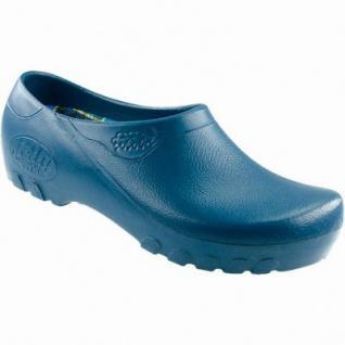 Alsa Fashion Jolly Damen, Herren PU Freizeit Slipper blau, Kork-Wechselfußbett, 4311133/36