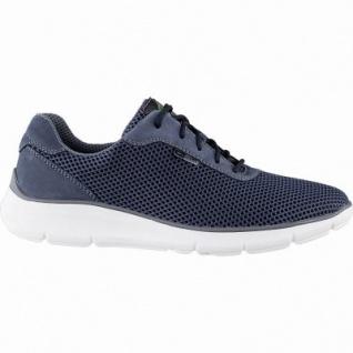 Waldläufer Haris 12 Herren Leder Sneakers jeans, Extra Weite H, herausnehmbares Fußbett, 2242103/7.5