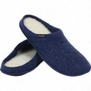 Crocs Classic Slipper warme Damen, Herren Textil Hausschuhe blue, kuscheliges Futter, Wildlederboden, 1941102/38-39 - Vorschau 2