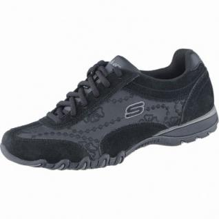 Skechers Lady Operator coole Damen Leder Sneakers black, Memory-Foam-Fußbett, 1238258/36