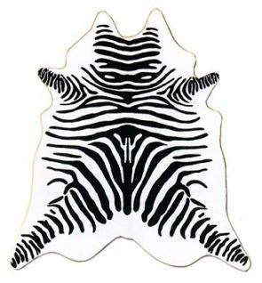 große südamerikanische Rinderfelle, Kuhfelle, weiß bedruckt mit Zebra-Zeichnung, seidig glänzendes Fell, ca. 3 m²