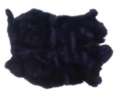 Kaninchenfelle dunkles violett gefärbt, ca. 30x30 cm, Felle vom Kaninchen mit seidigem Haar