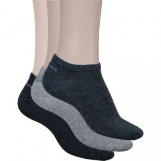 s.Oliver Classic NOS Unisex Sneaker grau, 3er Pack Damen, Herren Sneaker Socken, 6533113/35-38