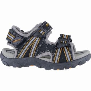 Geox coole Jungen Synthetik Sandalen black, weiches Geox Leder Fußbett, Antis...