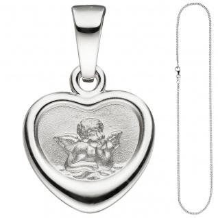 Anhänger Kleines Herz Herzchen Schutzengel 925 Sterling Silber mit Kette 38 cm - Vorschau 3