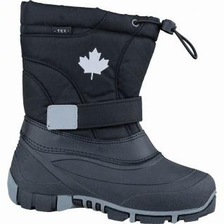 Canadians Mädchen und Jungen Winter Synthetik Tex Boots black, Warmfutter, we...