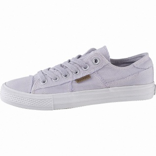 Dockers sportliche Damen Canvas Sneakers lila, weiches Fußbett, modische Snea...