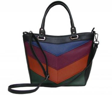 Angel kiss AK5987 multicolor modische Tasche, Handtasche, Shopper, 1 Hauptfach, langer Trageriemen, 38x26x14 cm