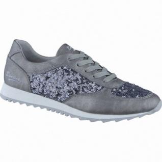 Dockers modische Damen Synthetik Sneakers grau, mit Glitzer, modische Dockers Zackensohle, 1238198