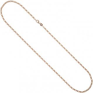 Ankerkette 925 Silber rotgold vergoldet 70 cm Kette Halskette Karabiner - Vorschau 3