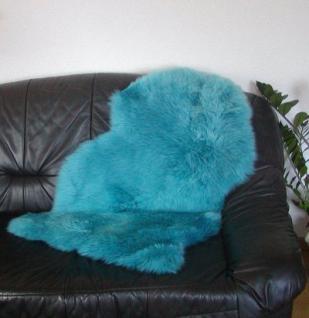 australische Lammfelle petrol gefärbt waschbar, Haarlänge ca. 70 mm, ca. 100x68 cm
