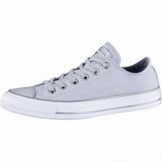 Converse CTAS - Metallic Toecap - OX coole Damen Canvas Metallic Sneakers platinum, Converse Laufsohle, 1240117/37