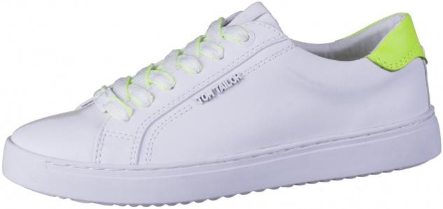 TOM TAILOR Damen Leder Imitat Sneakers white, TOM TAILOR Memory Effect Fußbett