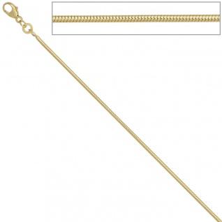 Schlangenkette 585 Gelbgold 1, 4 mm 38 cm Gold Kette Halskette Goldkette