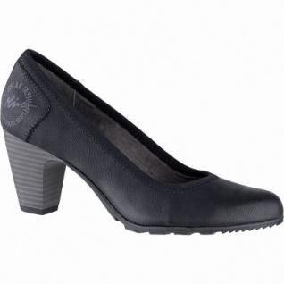 s.Oliver stilvolle Damen Leder Imitat Pumps schwarz, gepolstertes Soft-Foam-Fußbett, 1041103/39