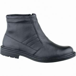 Jomos Herren Leder Winter Stiefel schwarz, Lammfellfutter, warmes Fußbett, Extra Weite, 2537128
