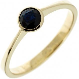 Damen Ring 333 Gold Gelbgold 1 Safir blau Goldring