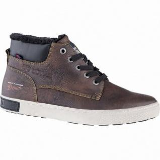 TOM TAILOR sportliche Herren Leder Imitat Winter Boots brandy, 11 cm Schaft, Warmfutter, warmes Fußbett, 2541111/44