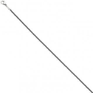Rundankerkette Edelstahl grau lackiert 50 cm Kette Halskette Karabiner