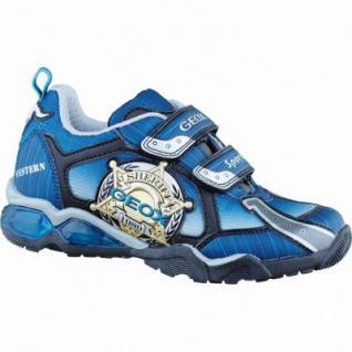 Geox LT Eclipse modische Jungen Synthetik Sneakers navy blue lt, Antishock Leder Fußbett, 3336142/32