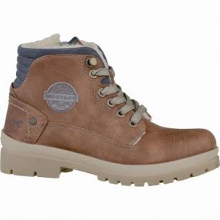 Mustang coole Jungen Leder-Imitat Winter Boots kastanie, molliges Warmfutter, warme Decksohle, 3737120