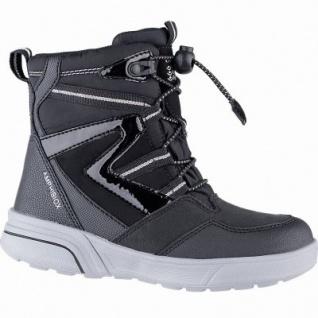 Geox Mädchen Winter Synthetik Amphibiox Boots black, 11 cm Schaft, molliges Warmfutter, herausnehmbare Einlegesohle, 3741111/34