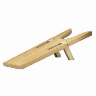 klappbarer Stiefelknecht aus Holz, für leichtes, schonendes Ausziehen von Stiefeln