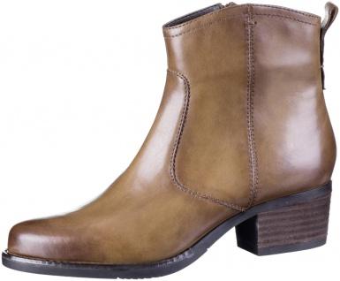 JANA Damen Leder Stiefeletten cognac, Comfort Weite G, Soft Flex System