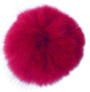 Echt Fuchsfell Fellbommeln rot, Ø ca. 10 cm, mit Band oder Schlaufe