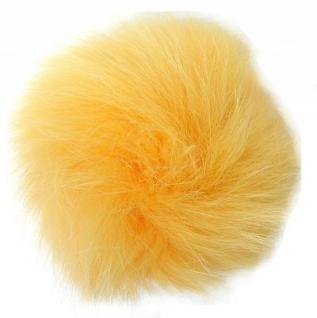 Echt Fuchsfell Fellbommeln gelb, Ø ca. 10 cm, mit Band oder Schlaufe