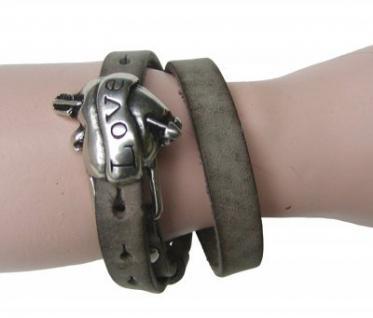 Boom Belts Wechselschließe Love silber für Damen, Herren Leder Armbänder mit 1 cm Breite - Vorschau